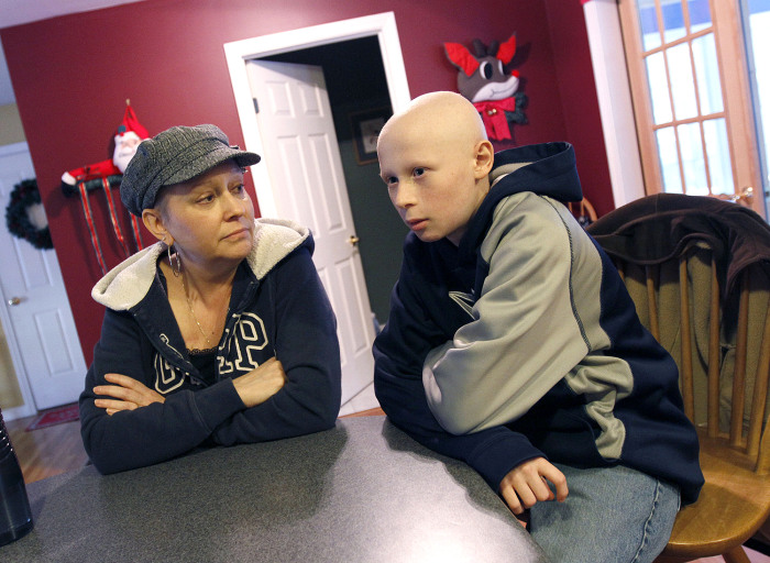 Karen and Owen Perry, mother and son, are each battling their own cancers.