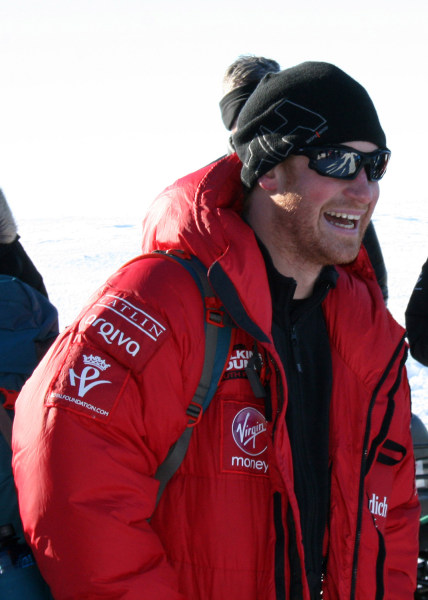 Prince Harry and his fellow adventurers from a trek to the South Pole had to rush to leave Antarctica on Wednesday in order to avoid a major storm that could have prevented them from being home for Christmas.