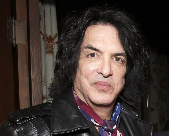 Paul Stanley attends a Grammy party in Los Angeles on Feb. 10, 2013.