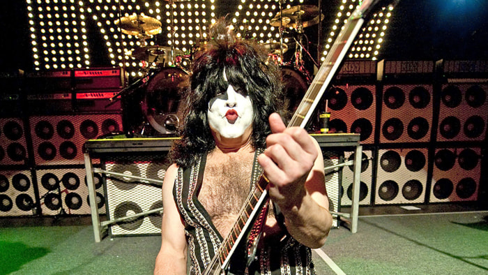 Paul Stanley of Kiss performs in London on March 2, 2010.