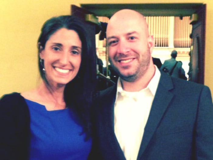 James Costello and his fiance Krista D'Agostino