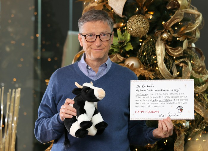 Bill Gates revealed to one Reddit user that he was her Secret Santa.