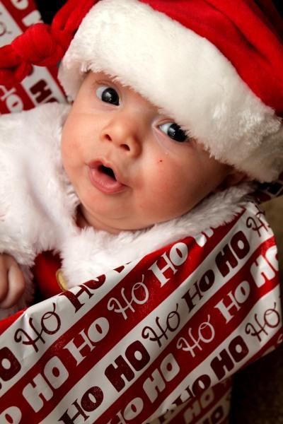 Preston Neal, born Oct. 9, is 'Santa's little helper.'