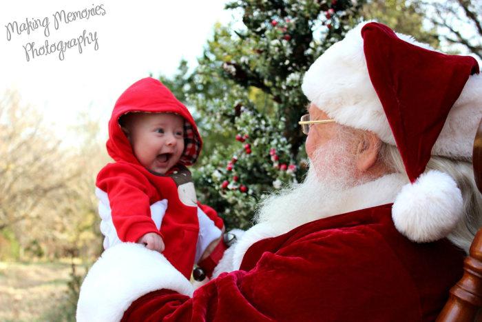Baby Blake Anthony Allen meets Santa Claus.