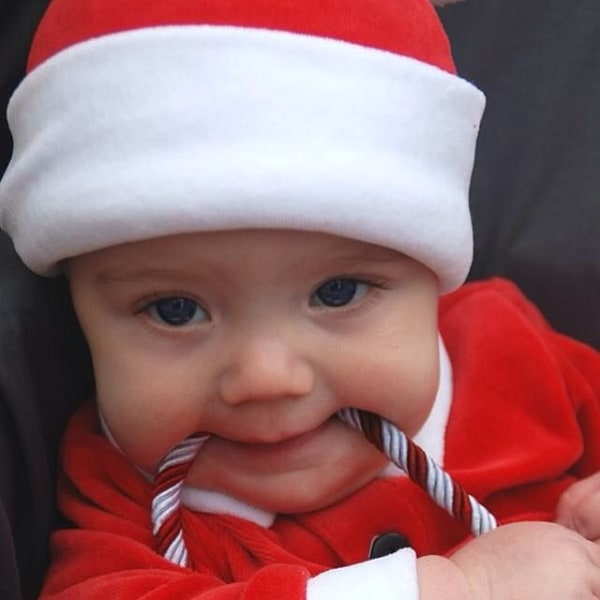 Hunter Crabb, born to parents Christopher and Sara, is a 'Santa Baby.'