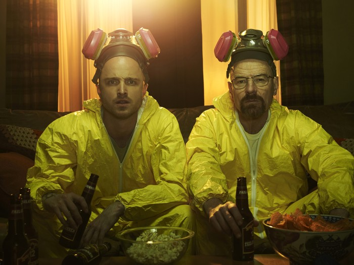 Jesse Pinkman (Aaron Paul) and Walter White (Bryan Cranston) - Breaking Bad - Gallery - Photo Credit: Frank Ockenfels/AMC
