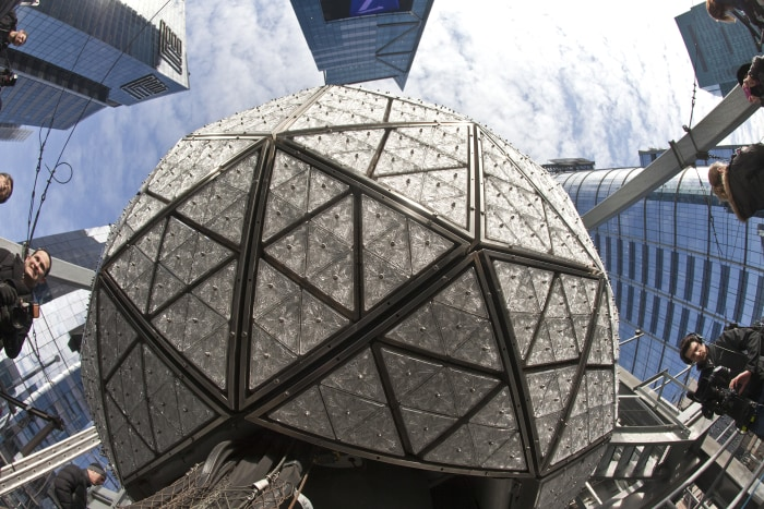 The New Year's Eve ball in Times Square.