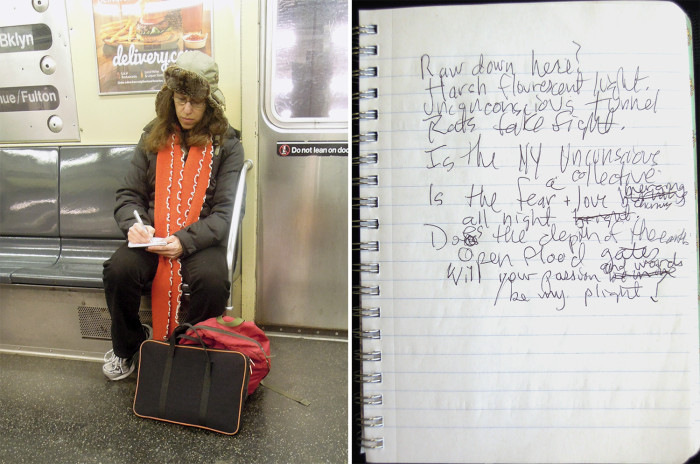 Madeline Schwartzman also writes poetry while her commute.