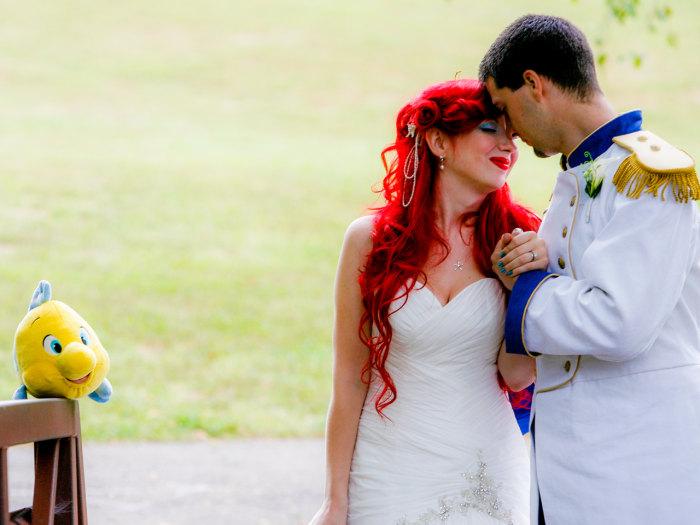 Princess Bride Over The Top Disney Wedding A Viral Hit