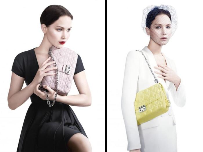 Oscar winner Jennifer Lawrence is the star of Dior's latest handbag ad campaign.