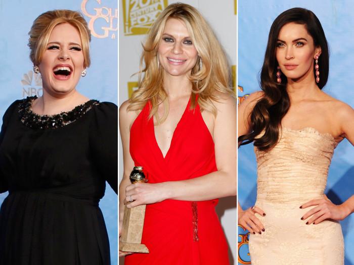 Adele, Claire Danes, Megan Fox