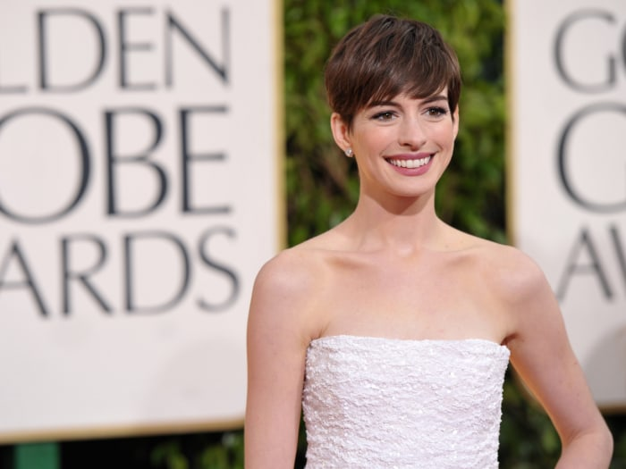 From Anne Hathaway to Jennifer Lawrence, the red carpet's most glamorous and fashion-forward celebrities.