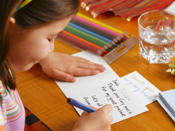Should kids be forced to write thank you notes todaycom for Children s books about writing letters