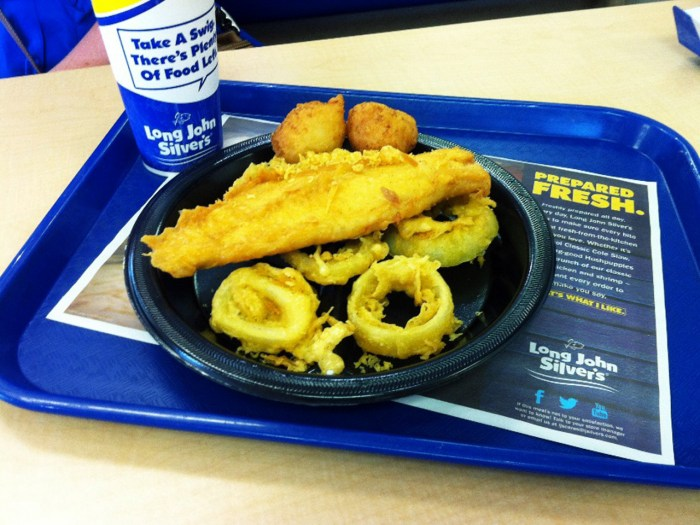 Big Catch meal from Long John Silver's