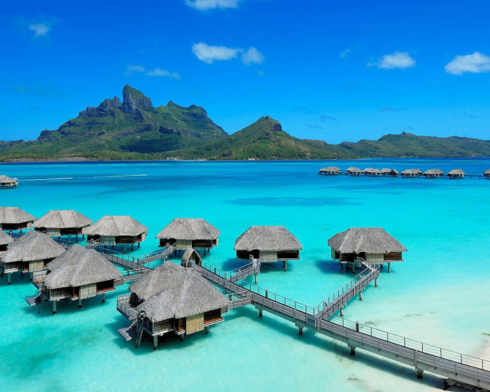 Four Seasons resort in Bora Bora.