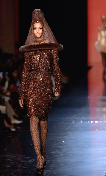 A creation by Jean Paul Gaultier, presented on July 3, 2013.