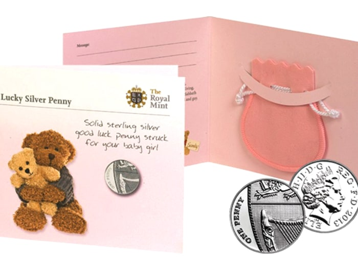 Any baby that is born on the same day as Prince William and Duchess Kate will receive a pouch with the silver penny as well as a note.