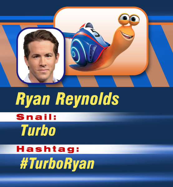 Ryan Reynolds is Turbo.