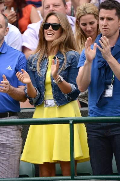 Sears attends Day 3 of Wimbledon.
