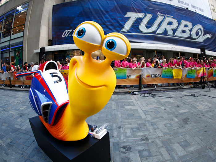"Tune in Tuesday to see the anchors race the ""Turbo"" snails on the TODAY plaza."