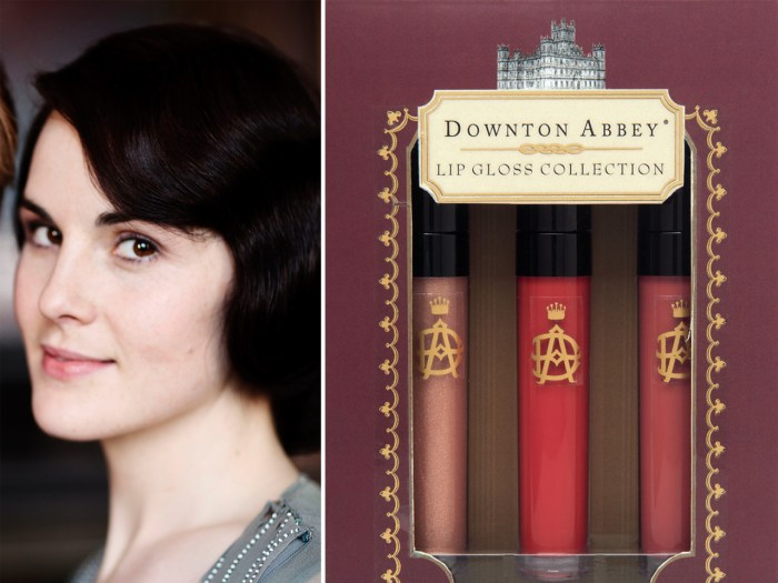 "What would Lady Mary Crawley wear? A collection of ""Downton Abbey""-related beauty products, including lip gloss, will be sold beginning in October 2013."