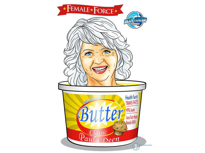 "The cover of ""Female Force: Paula Deen"" is shown in this handout publicity photo released to Reuters July 10, 2013. Bluewater Productions, which publi..."