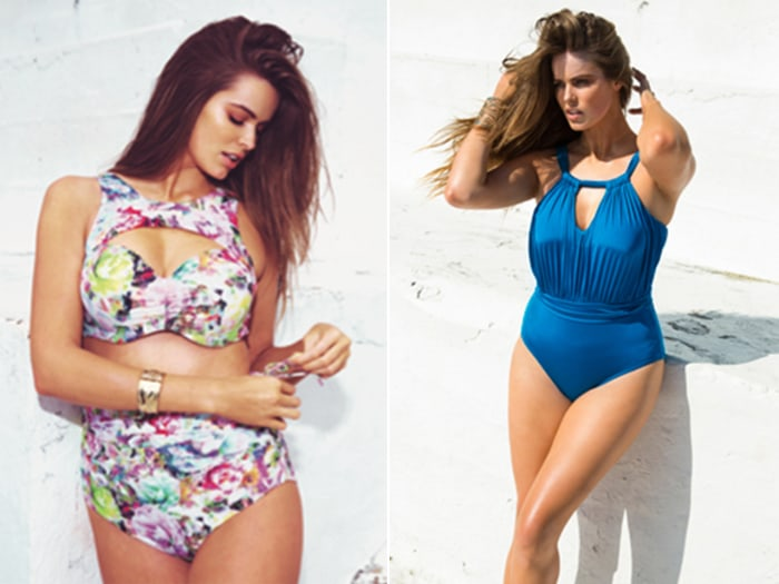 Model Robyn Lawley's swimwear line, launched this week, is part of a burgeoning trend in suits for larger women.