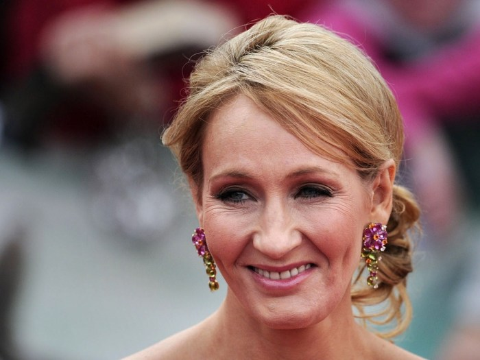 A picture dated July 7, 2011 shows Harry Potter author J K Rowling attending the world premiere of Harry Potter and the Deathly Hallows.