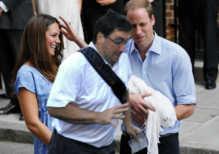 The Duke and Duchess of Cambridge try to show off their new baby to the world, and this guy has to go and get in the way.