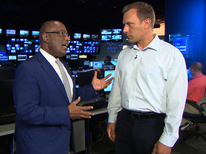 Mike Bettes, who narrowly escaped a harrowing tumble in his truck during an Okla. tornado, spoke to Al Roker on TODAY Monday about whether he'll return to storm-chasing.