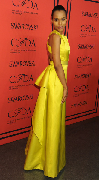 Actress Kerry Washington backstage during the 2013 CFDA Fashion Awards at Lincoln Center on June 3, 2013 in New York City.