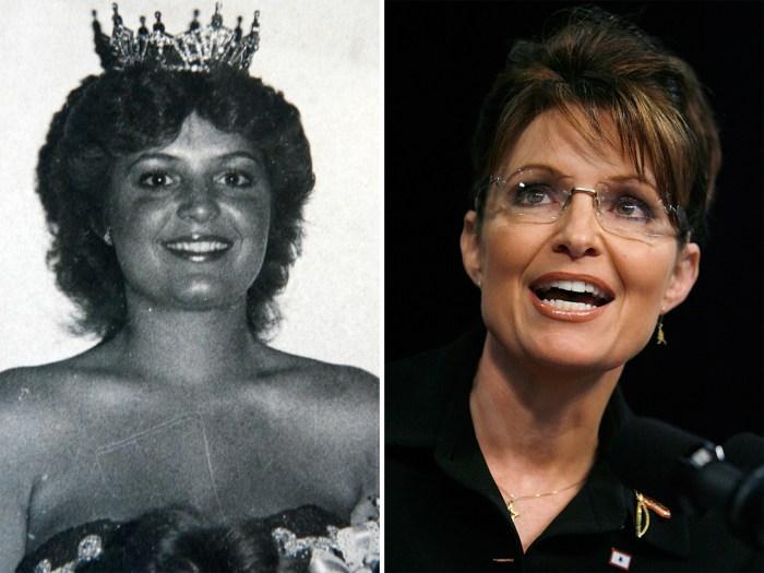 Sarah Palin in her beauty queen days.