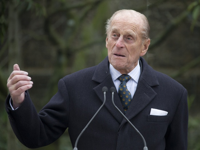 Britain's Prince Phillip, the Duke Of Edinburgh, opens a new 3.6 million pound Sumatran tiger enclosure at London Zoo, north London, Wednesday, March ...