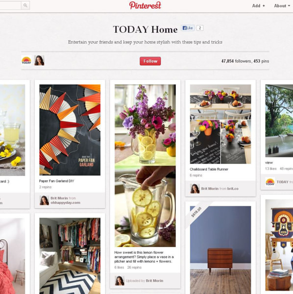 TODAY Home Pinterest board.