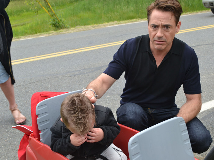 Image: Jaxson Denno, Robert Downey Jr.