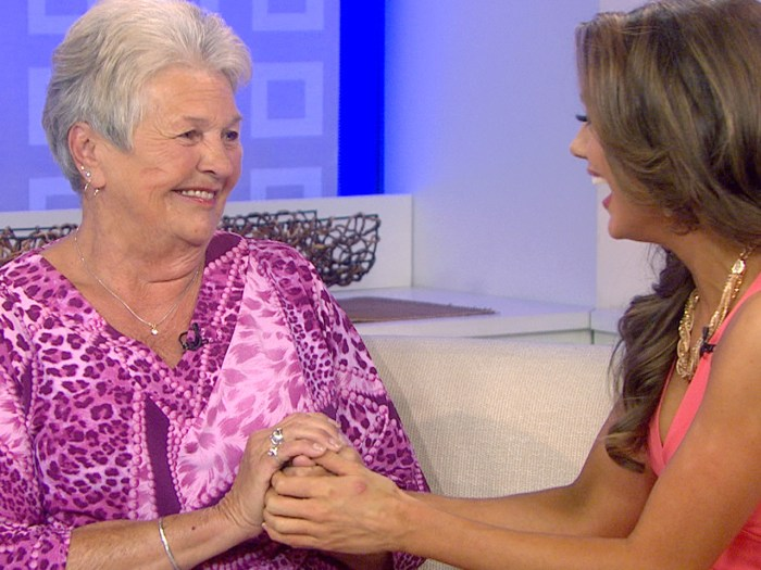 """Theresa Brady joked that """"it's a wonder the police didn't come, we were so loud with joy,'' when talking about the reaction of seeing her granddaughter become Miss USA."""