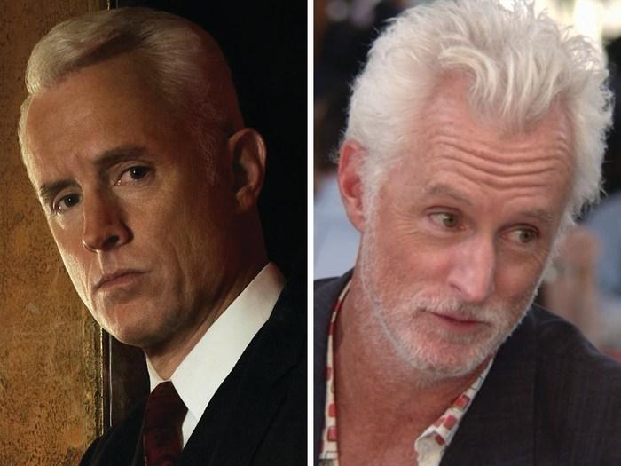 "Image: John Slattery as Roger Sterling on ""Mad Men"" and Dr. Norman on ""Arrested Development."""