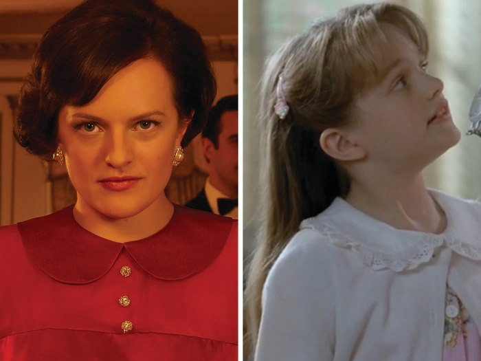 "Image: Elisabeth Moss as Peggy Olson on ""Mad Men"" and Cynthia Parks on ""Picket Fences."""