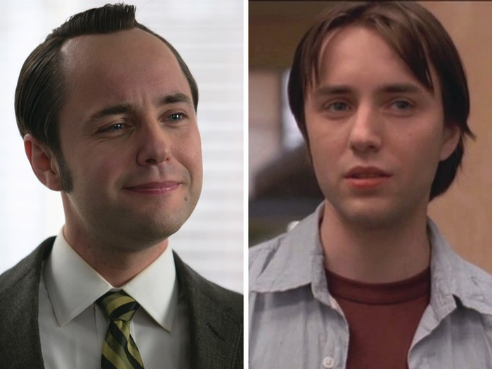"Image: Vincent Kartheiser as Pete Campbell on ""Mad Men"" and Connor on ""Angel."""