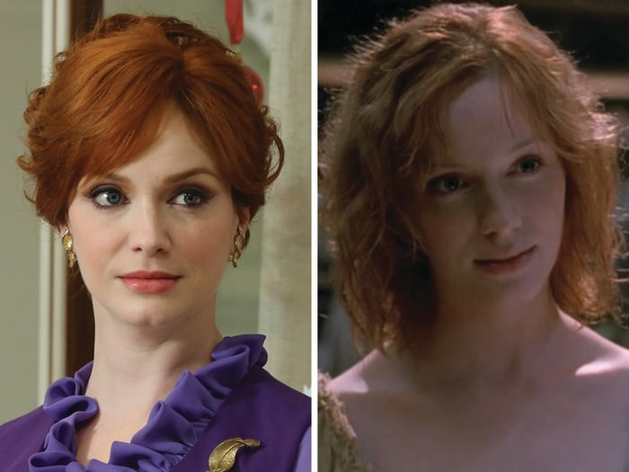 "Image: Christina Hendricks as Joan Harris on ""Mad Men"" and Saffron on ""Firefly."""