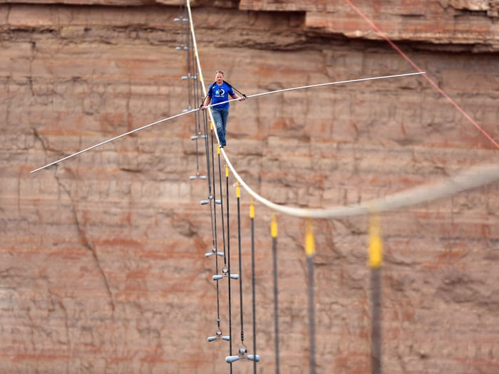 After becoming the first person to cross the Grand Canyon on a wire, Nik Wallenda has his sights set on walking between two iconic skyscrapers in New York City, but has encountered early resistance from NYPD commissioner Raymond Kelly.
