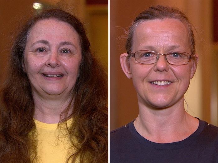 Ambush Makeover recipients Donna Hannick and Annika Rudemo.