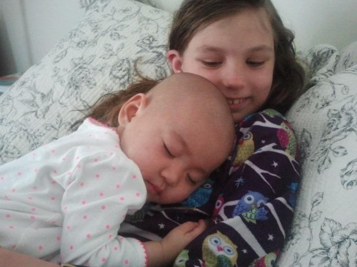 Mya with sibling
