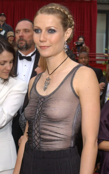 Too revealing? Actress Gwyneth Paltrow regrets how she styled her Alexander McQueen dress in 2002.