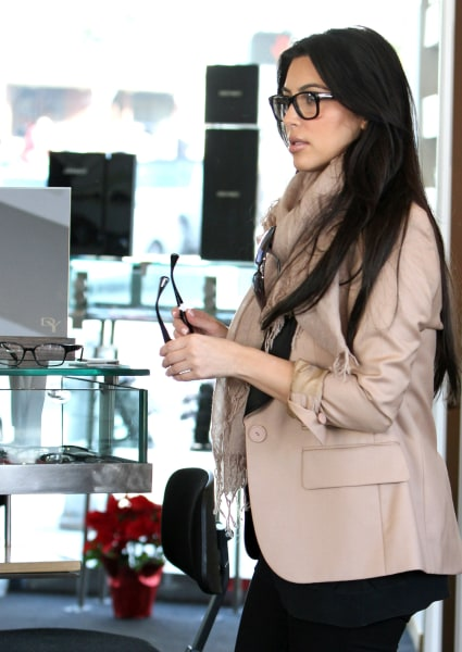 No prescription necessary: Even Kim Kardashian, seen shopping in Beverly Hills on Jan. 7, 2012 is in on the trend.