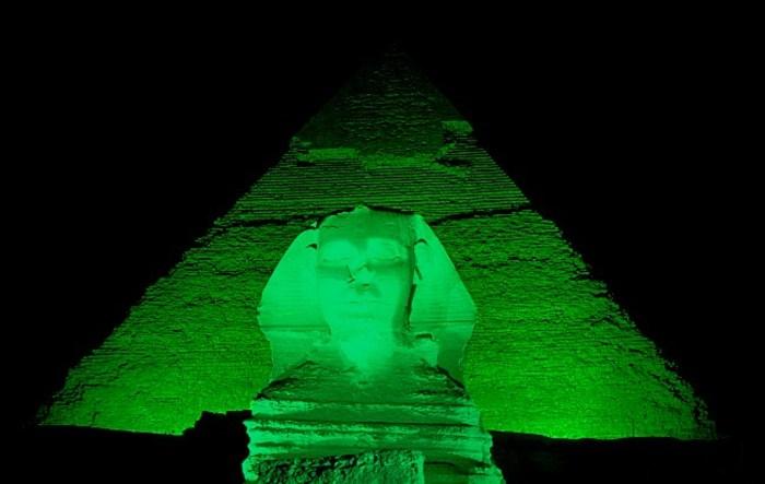 Green pyramid.