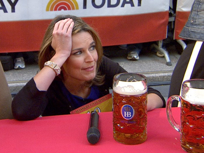 Competitive Savannah Guthrie is bummed when she forfeits.