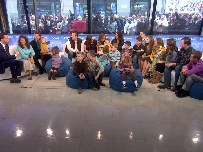 Image: The Duggar family on TODAY