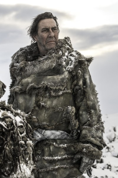 Irish actor Ciaran Hinds plays Wildling leader Mance Rayder.