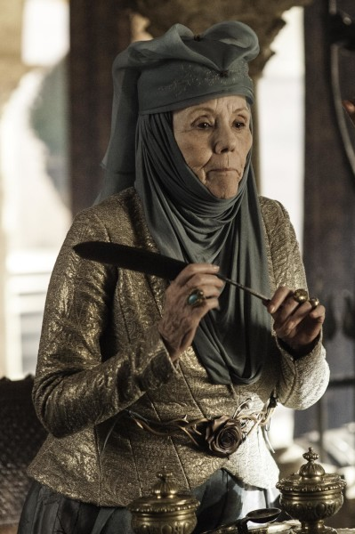 Diana Rigg plays Olenna Tyrell in season 3.